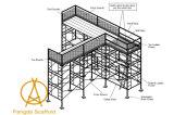 고층 건축을%s H 프레임 비계 시스템