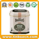 achteckiger Tee-Zinn-Kasten des Metall1.8oz/50g für Frühstück-Tee-Speicher