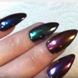 Glänzendes herrliches Neonchrom-Spiegel-Funkeln-Staub-Maniküre-Pigment-Puder