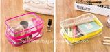 Eco a réutilisé transparent fait sur commande en gros bon marché imperméabilisent le sac en plastique estampé de produit de beauté de PVC d'espace libre de tirette de promotion