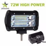 알루미늄 주거 반점 DRL는 IP68 72W를 5 인치 차 LED 표시등 막대 도매한다