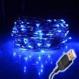 10m USB LED String 100 LED para Interior/Exterior, Resistente al Agua, Cable de cobre flexible