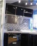 in de de Grijze 3X6inch/7.5X15cm Glanzende Schuine rand Verglaasde Ceramische Badkamers van de Tegel van de Metro van de Muur/Decoratie van de Keuken