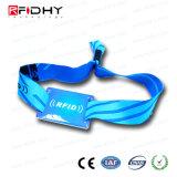 Wristband tessuto del poliestere RFID per gli eventi