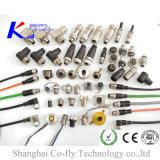 M12 2, 3, 4, 5, 6, 8, 12, 17 의 19의 Pin 여성 똑바른 전기 방수 연결관