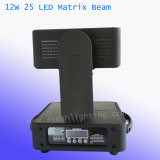 lumière de lavage de faisceau de la matrice 25X12W