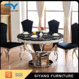 Tabella pranzante di marmo stabilita della sala da pranzo della mobilia della sala da pranzo