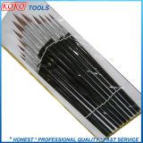 Insieme di spazzola di legno nero dell'articolo del collegare delle lane di colore giallo della maniglia 12PCS