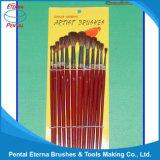insieme di spazzola di legno dell'artista della maniglia 12PCS (AB-069)