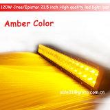 barra ligera ambarina de 120W 21.5inch LED para el coche de 4X4SUV UTV