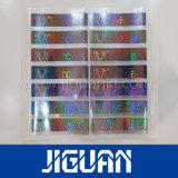 La coutume a estampé le collant anticontrefaçon de empaquetage d'hologramme de vinyle d'étiquette