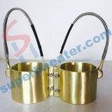 De cerámica de alta temperatura industrial/mica/calentador de venda de cobre amarillo
