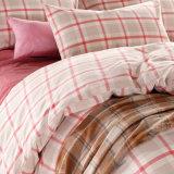 Het roze Katoenen van de Bevordering van de Flat Garen Geverfte Beddegoed van het Dekbed