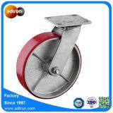Industrieller Hochleistungs-PU-Stahlfußrollen-Schwenker und steife Platte