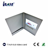 Zoll 7 Zoll LCD-Spieler-Geschäfts-Marketing-videobroschüre mit Tasche