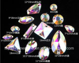 De peer naait op de Vlakke AchterBergkristallen van het Glas van het Kristal (sW-Scheur daling 13*18mm)