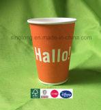 Tazza di carta a parete semplice personalizzata ecologica a gettare di stampa di colore per la bevanda fredda