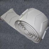 White PU Guard Industrie alimentaire petite courroie sans fin des ventes pour incliner l'installer dans la machine de convoyeur ub-W1