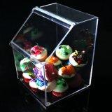 Caixa dos doces da bancada dos clientes das vendas por atacado e indicador acrílicos dos escaninhos