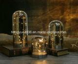 Indicatore luminoso decorativo di vetro della Tabella dell'indicatore luminoso di natale del materiale LED di vendita calda piacevole di disegno 2018 LED