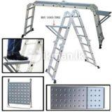 El aluminio y acero para construcción de la escalera de andamio Ringlock