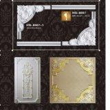 Moldeado de corona de la PU de la esquina y del marco del panel de pared Hn-8268X