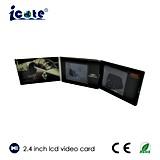 LCDスクリーングリーティングまたはギフトまたは広告のための2.4インチのビデオパンフレットのビデオカード