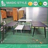 Im Freien Aluminiumtisch-im Freien Vierecks-Tisch-Garten-Speisetisch-moderner Speisetisch-Patio-Speisetisch (magische Art)