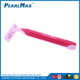 Qualitäts-Plastikgriff-Zwilling-Schaufel-Rasiermesser für Frauen von China
