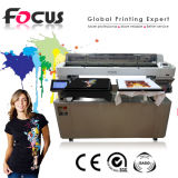 Máquina de impressão de alta resolução da camisa de T direta à impressora do vestuário