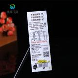 Fábrica de envases de alimentación profesional personalizado de impresión en blanco el uso de etiquetas adhesivas rollo Stikers