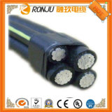 Conducteur solide simple coeur de 4mm2 isolés de PVC résistant au feu électrique souple sur le fil de câble en cuivre