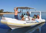 Liya China 22FT aufblasbares Boots-Rippen-Boot mit Außenbordmotor