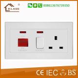 13A MF 2pista Interruptor Eléctrico Soquete com porta USB duplo