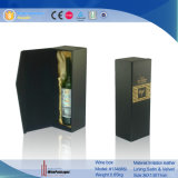 Simple Caja de vino de cuero negro (1348R4).