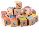Hölzernes Baby pädagogische ABC-Alphabet-Buchstabenkombination, die Bausteine erlernt