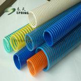 Tuyau d'aspiration, grand bobinage en PVC en plastique flexible du tuyau de drainage d'aspiration
