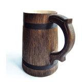 Het bamboe kijkt Mok van het Bier van de Kleur van de Basis de Donkere Grijze Houten
