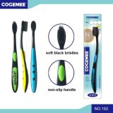 Toothbrush adulto com as cerdas macias 152 do preto