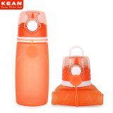 На заводе прямой продажи съемные Wide-Mouth прочный силикон бутылка воды 550 мл