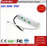 LEIDENE Voltage van het HOOFD van de Bestuurder Levering van de Constante 24V 30W de Waterdichte Macht van de Omschakeling IP67