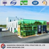 Edificio de acero certificado aprisa ensamblado de la exposición del coche del braguero