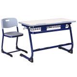 Mesa de madeira dobro da escola para a escola de classe elevada