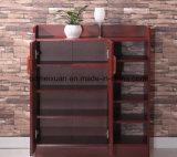 Cabina de madera del estante de madera sólido del zapato (M-X2099)