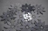 Китайские дешевые плитки мозаики цветка цвета белого и серого мрамора смешанные