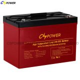 Bateria profunda 12V 90ah do Forklift do ciclo do gel de alta temperatura de Cspower