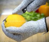 Grauer Sicherheits-Arbeits-Handschuh der Hppe Schnitt-Widerstandslinie-5