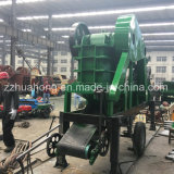 Fácil operar a estação de triturador de pedra portátil da maxila, a maioria de maquinaria de mineração de pedra da rocha popular
