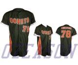 Выполненное на заказ Emboridery/Twill/печатание снасти резвятся рубашки бейсбола (B026)