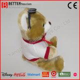 Jouet mou de peluche d'ours de nounours de peluche faite sur commande pour des gosses/enfants